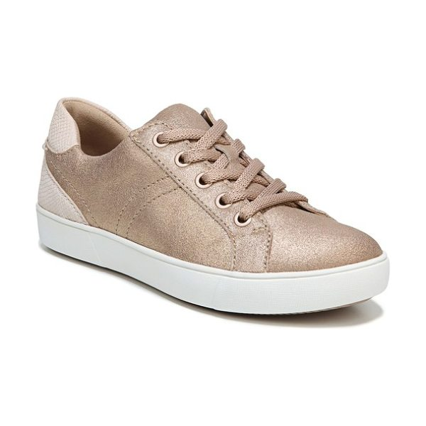 NATURALIZER morrison sneaker in brown pearl suede - A shimmery, color-blocked street sneaker is built for...