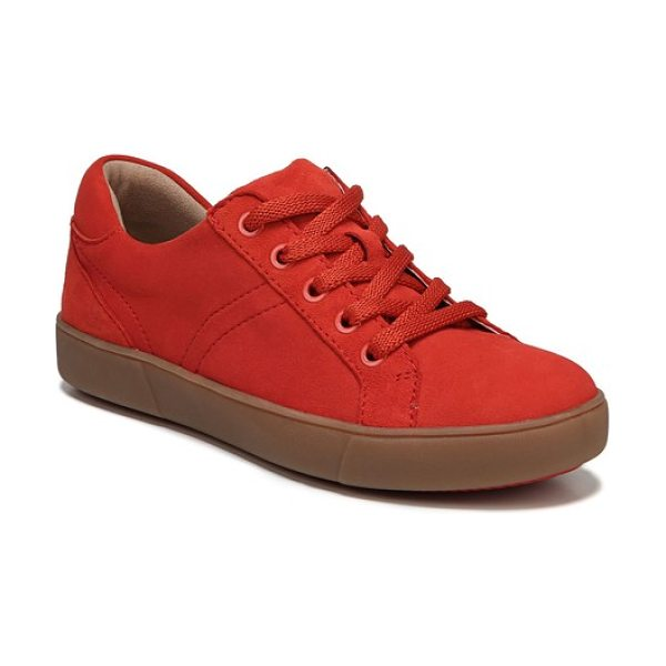 Naturalizer morrison sneaker in red suede - A shimmery, color-blocked street sneaker is built for...