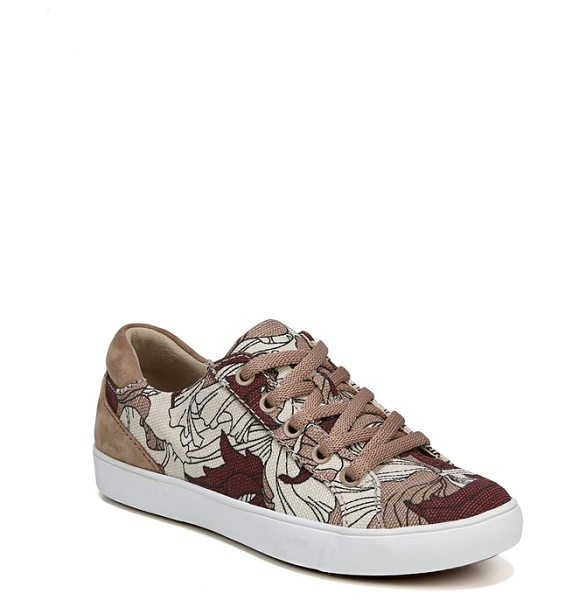 Naturalizer morrison sneaker in taupe multi leather - A shimmery, color-blocked street sneaker is built for...