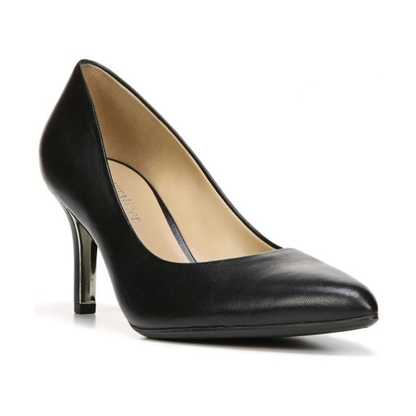 Naturalizer natalie pointy toe pump in black leather