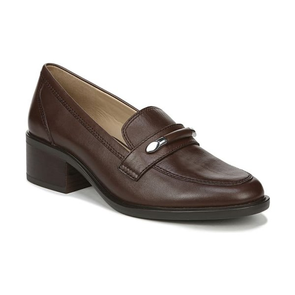 Naturalizer perla loafer in chocolate leather