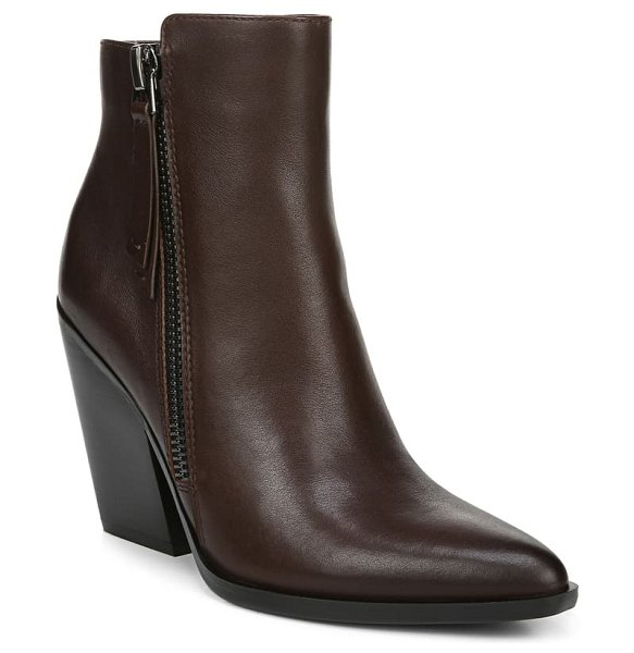 Naturalizer rooney dual zip bootie in chocolate leather