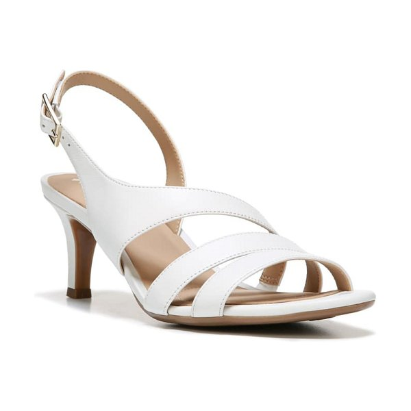Naturalizer taimi slingback sandal in white leather