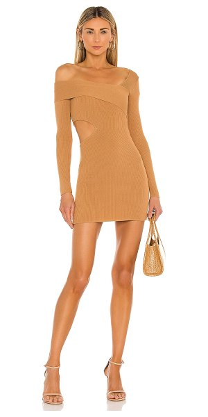 NBD anora sweater dress in camel
