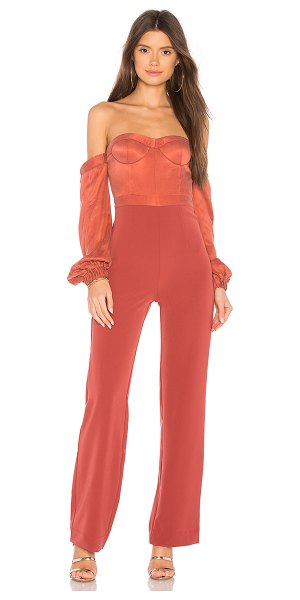 Nbd Lily Jumpsuit In Red Shopstasy