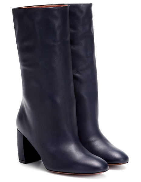 Neous ophrys leather ankle boots in black
