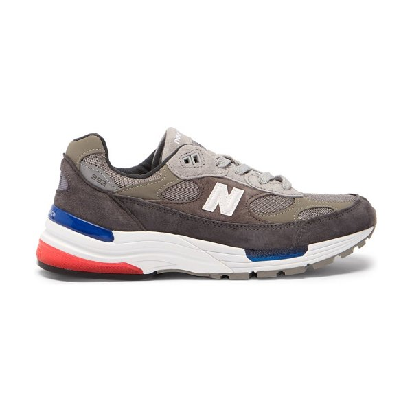 New Balance 992 suede and mesh trainers in dark grey