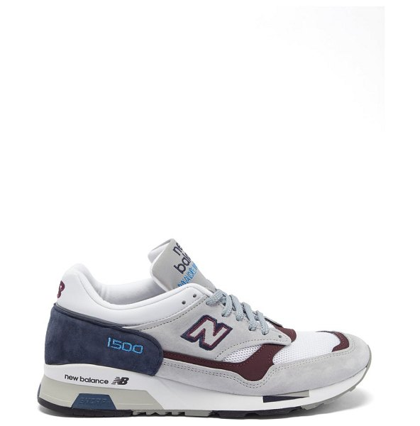 New Balance made in england 1500 leather and mesh trainers in grey multi