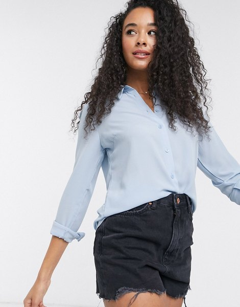 New Look button down shirt in light blue in blue