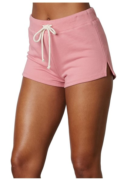 NIA essex cotton blend shorts in ash pink