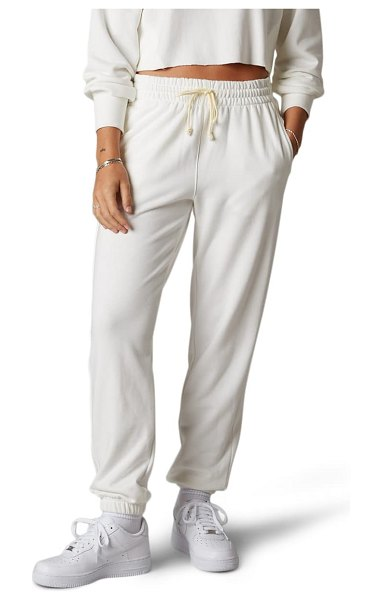 NIA prince cotton blend joggers in white
