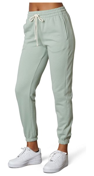 NIA prince cotton blend joggers in moss