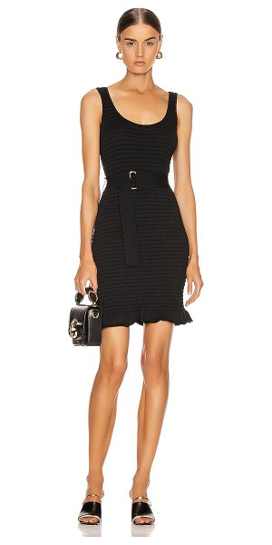 NICHOLAS knit smocked mini dress in black