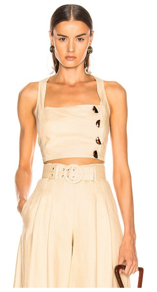 NICHOLAS pinafore top in champagne