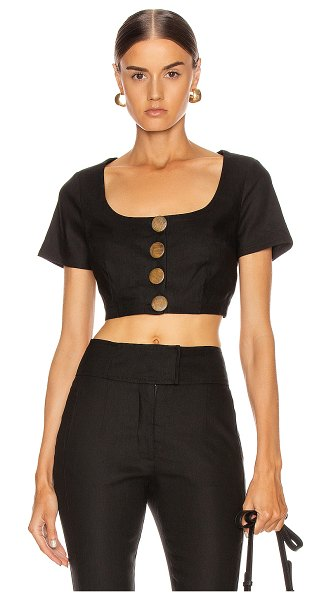 NICHOLAS scoop top in black