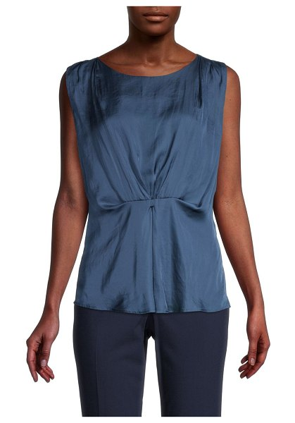 NIC+ZOE Destination Draped Top in indigo sea