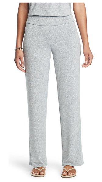 NIC+ZOE Eaze Marled Wide-Leg Pants in blue mix