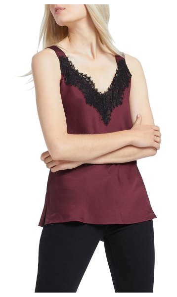 NIC+ZOE lace cami tank top in port