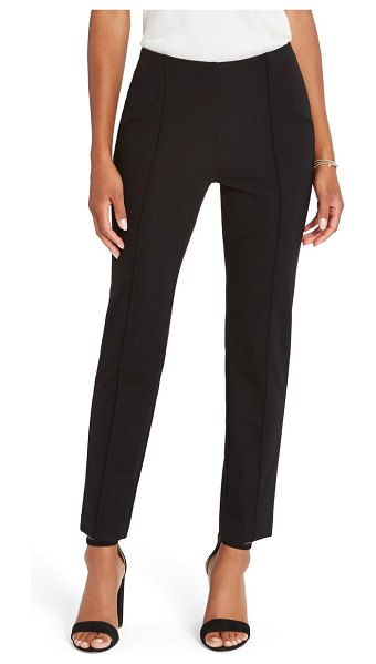 NIC+ZOE lead the way ponte knit ankle pants in black onyx