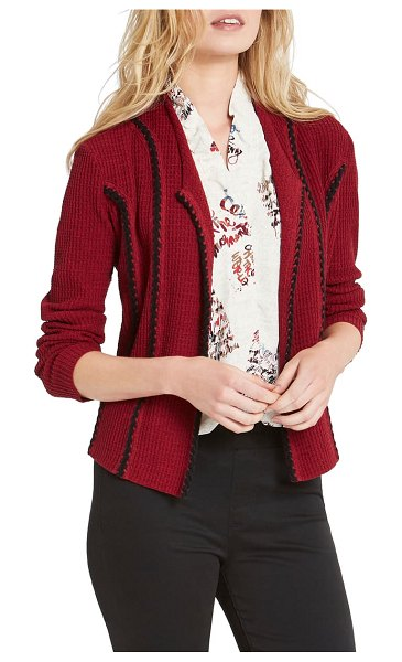 NIC+ZOE nic + zoe cafe jacket in red maple
