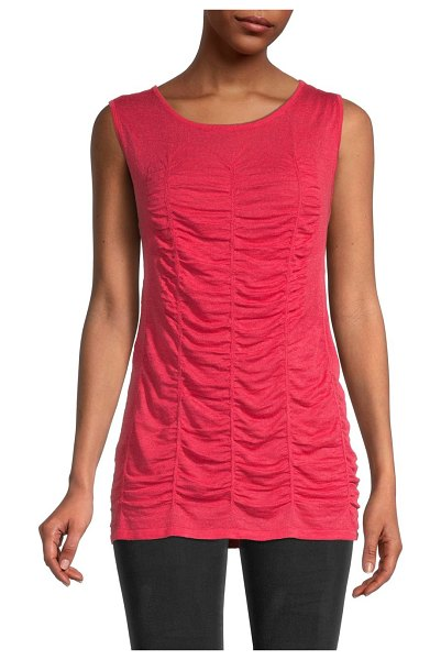 NIC+ZOE Ruched Tank in cosmo red