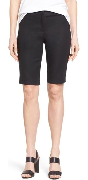NIC+ZOE 'the perfect' stretch woven trouser shorts in black onyx