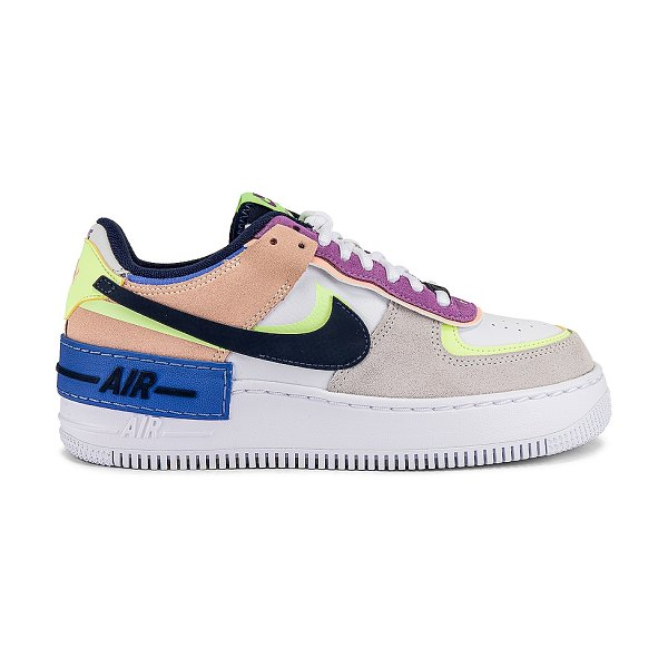 Nike af1 shadow sneaker in photon dust  royal pulse  barely volt  c