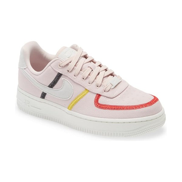 Nike air force 1 '07 lx sneaker in red/ white/ citron