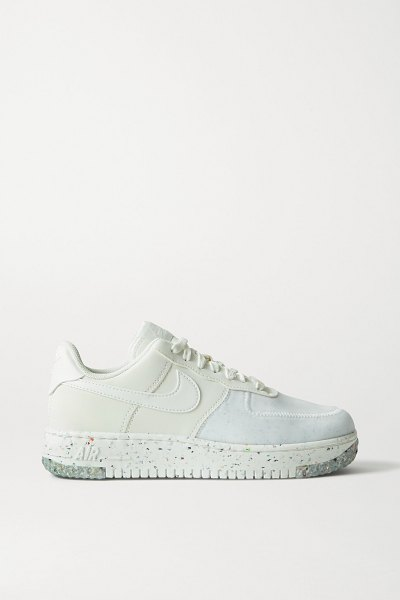Nike air force 1 crater faux leather and mesh sneakers in white
