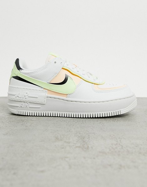 Nike air force 1 shadow sneakers in pink and green in pink