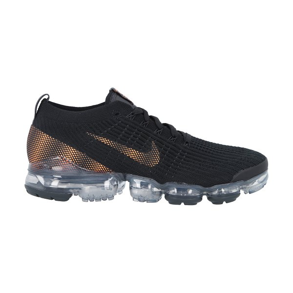 Nike Air Vapormax Flyknit trainers in blacktotalorangedksmokegrey
