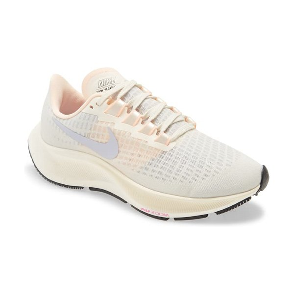 Nike air zoom pegasus 37 running shoe in ivory/ ghost/ barely volt