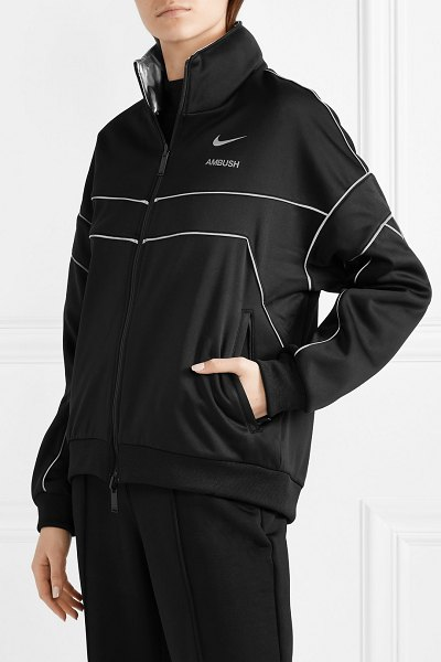 Nike ambush nrg reversible tech-jersey and shell track jacket in black