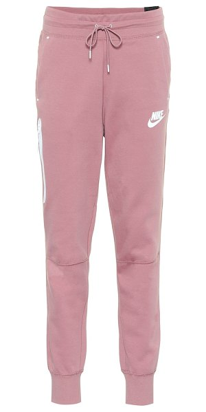 Nike cotton-blend trackpants in purple