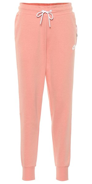 Nike cotton blend trackpants in pink