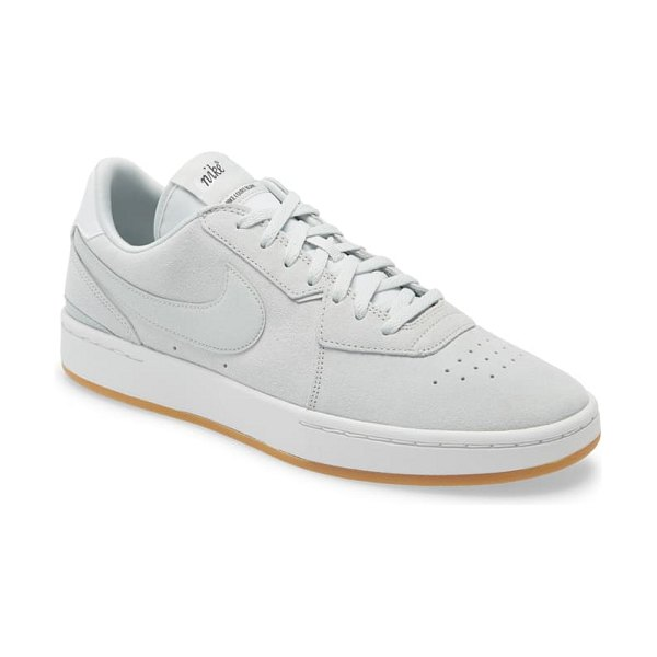 Nike court blanc se low top sneaker in light silver/ light silver