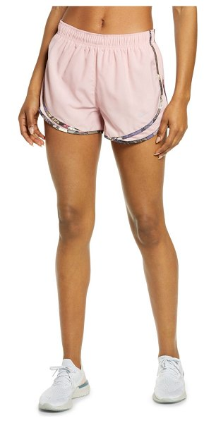 Nike dri-fit tempo running shorts in pink glaze/ wolf grey