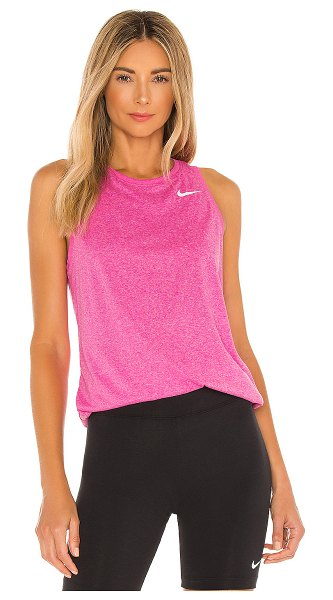 Nike dry essential tank in fire pink
