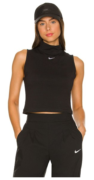 Nike nsw collection mock neck top in black