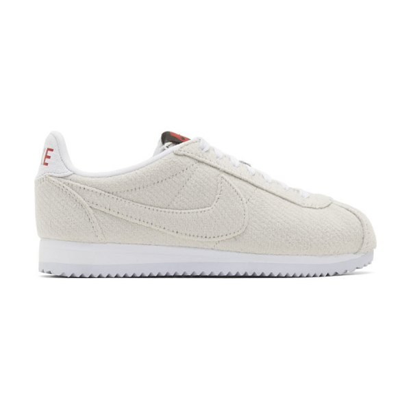 Nike off-white stranger things edition classic cortez sneakers in sail