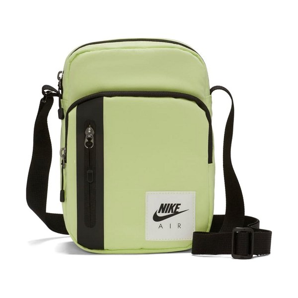 Nike small items bag in lime/ black/ white