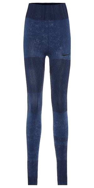 Nike technical leggings in blue