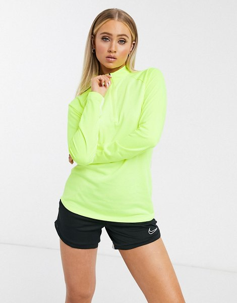 Nike Training nike soccer dry academy long sleeve top in green in green