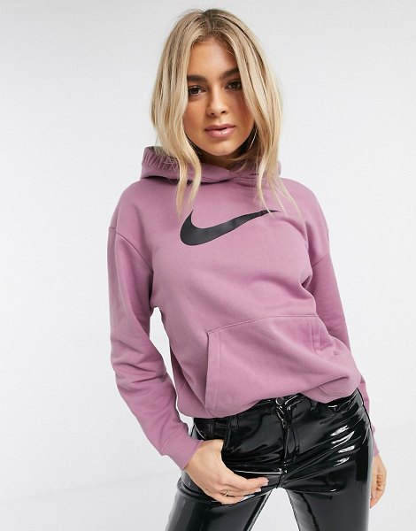 Nike triple swoosh purple oversized hoodie in purple