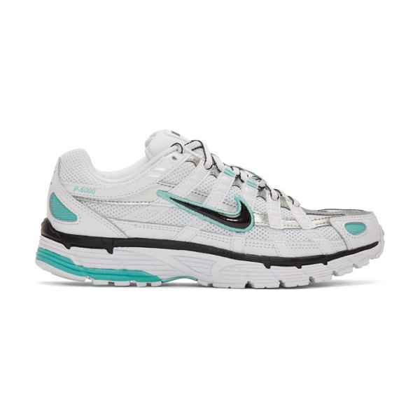 Nike white p-6000 sneakers in 104 whtblks
