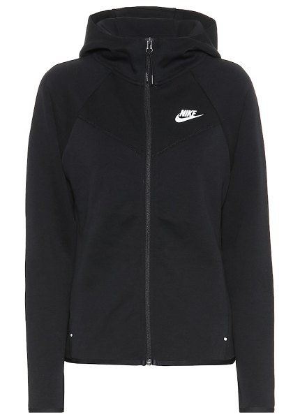 Nike windrunner cotton-blend hoodie in black