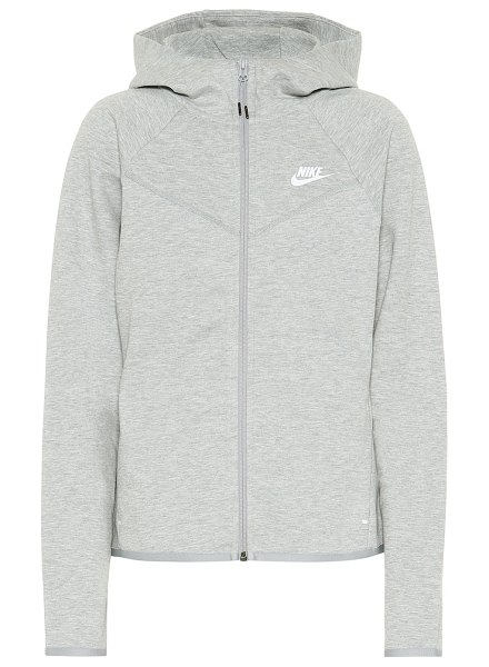 Nike windrunner cotton-blend hoodie in grey