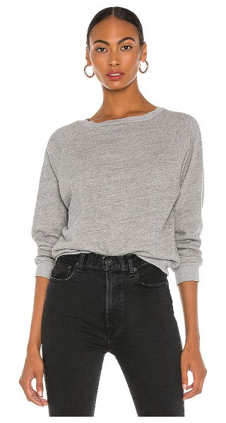 NILI LOTAN classic crew neck sweatshirt in heather grey