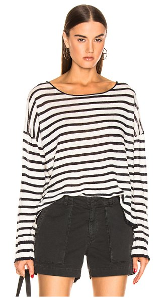 NILI LOTAN Hanson Sweater in blue,stripes,white - Cotton blend.  Made in USA.  Dry clean only.  Semi...