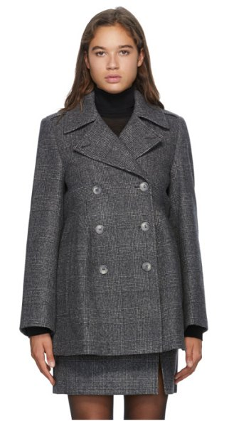 Nina Ricci grey wool double-breasted jacket in m9236 grey